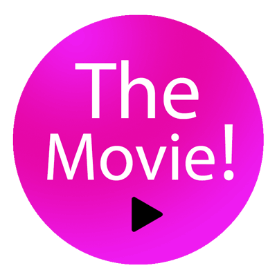 Sticker met tekst The Movie